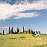 Beautiful House In Val D'orcia - Tuscany - Italy Poster