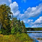 Beautiful Lake Abanakee - Indian Lake New York Poster by David Patterson