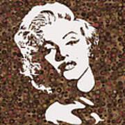 Beautiful Marilyn Monroe Digital Artwork Poster