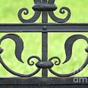 Beautiful Metal Fence Poster