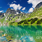 Beautiful Mointain And Lake Poster
