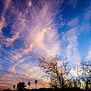 Beautiful Morning Sunrise Clouds Across The Sky Poster