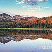 Beautiful Mountain Reflection Poster by Robert Bales