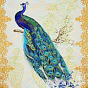 Beautiful Peacock-b Poster