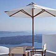 Beautiful Santorini View Poster
