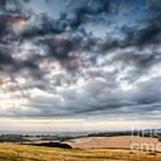 Beautiful Skies Over Farmland Poster