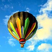 Beautiful Stripped Hot Air Balloon Poster