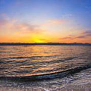 Beautiful Sunrise On A Red Sea Beach Poster