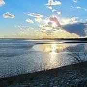 Beautiful Sunset Iowa River Poster