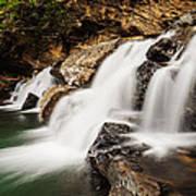 Beautiful Waterfall In Western Ghats Karnataka India Poster