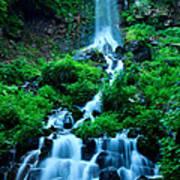 Beautiful Waterfalls In Karuizawa Japan Poster