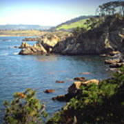 Beautifully Rugged Shoreline At Point Lobos Two Poster