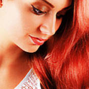 Beauty In Red Hair Poster