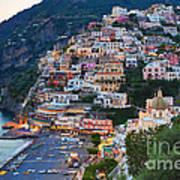 Beauty Of The Amalfi Coast  Poster by Leslie Leda