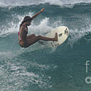 Beauty On A Surf Board Poster