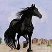 Beauty Running Free Poster