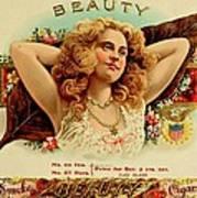 Beauty Vintage Cigar Advertisement  Poster