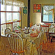 Bed And Breakfast Over The Water At Fishing Point In Saint Anthony-nl Poster