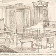 Bedchamber Furniture In The Japanese Poster