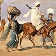 Bedouin Family Travels Across The Desert Poster