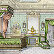 Bedroom In The Renaissance Style Poster