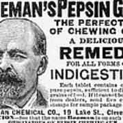 Beemans Pepsin Gum, 1895 Poster