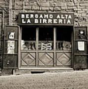 Beer Bar In Bergamo Poster