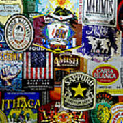 Beer Labels Poster by Richard Reeve