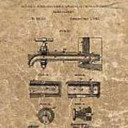Beer Tap Patent Poster