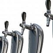 Beer Tap Row Isolated Poster