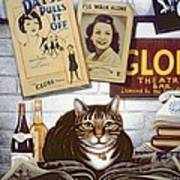 Beerbohm, The Theatre Cat Oil & Tempera On Panel Poster