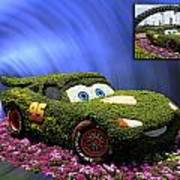 Before And After Sample Art 29 Floral Lightning Mcqueen Poster by Thomas Woolworth