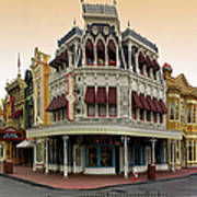 Before The Gates Open Magic Kingdom Main Street. Poster