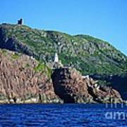 Behind Fort Amherst Rock By Barbara Griffin Poster