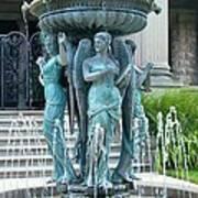 Beiger Mansion Fountain  Mishawaka Indiana Poster