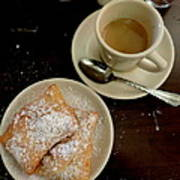 New Orleans Beignets And Coffee Au Lait  Poster
