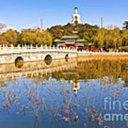 Beijing Beihai Park And The White Pagoda Poster by Colin and Linda McKie