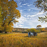 Belfry Fall Landscape Poster by Roger Snyder