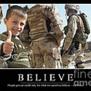Believe Inspirational Quote Poster