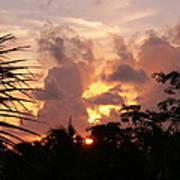 Belizean Sunset Poster
