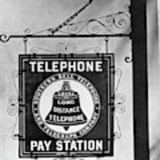 Bell Telephone Sign, C1899 Poster