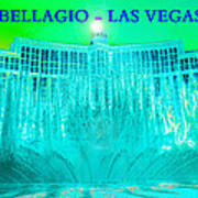 Bellagio Fountains Las Vegas Poster