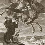 Bellerophon Fights The Chimaera, 1731 Poster