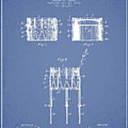 Bemis Snare Drum Patent Drawing From 1886 - Light Blue Poster