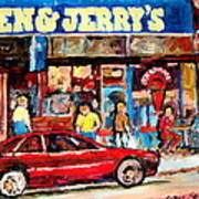 Ben And Jerrys Ice Cream Parlor Poster