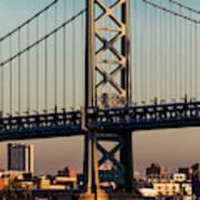 Ben Franklin Bridge Over Delaware River Poster