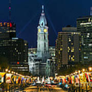 Ben Franklin Parkway And City Hall Poster