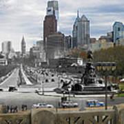 Ben Franklin Parkway Poster by Eric Nagy