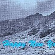 Ben Nevis Happy New Year Greeting Poster