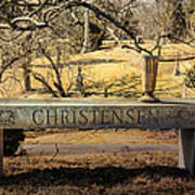 Bench At Spring Grove Poster